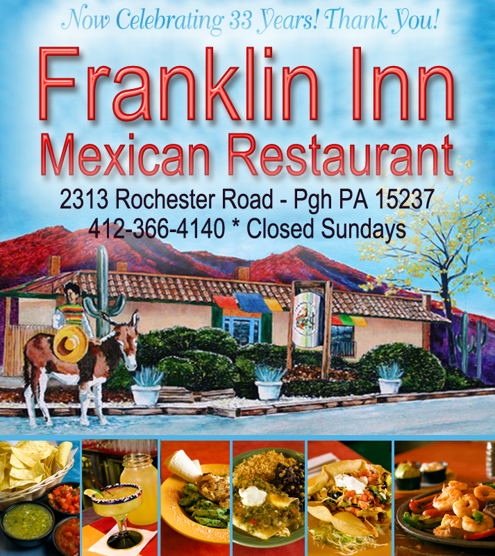 food and logo photos of the Franklin INn